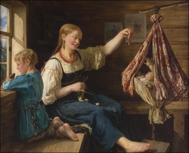 """Maleriet """"Berceuse"""" av François Nicholas Riss."""