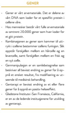 faktaboks: gener